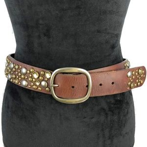 AEROPOSTALE Leather Studded Bling Belt M